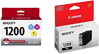 CanonInk MAXIFY PGI-1200 3Color Multi Pack Ink & PGI-1200 Pigment Black Ink Tank Compatible to MB2120, MB2720, MB2020, MB2320