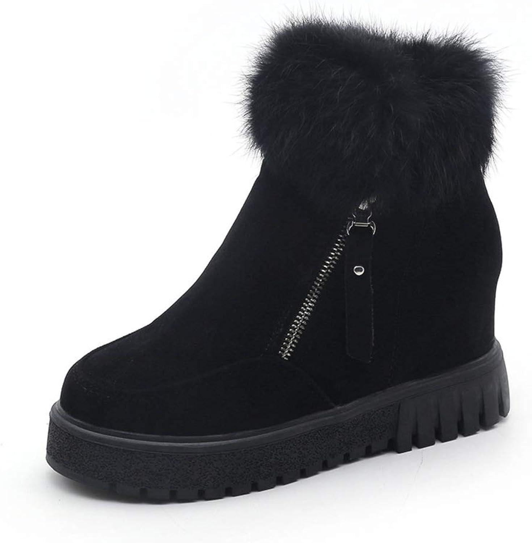 Boots Women's Winter Booties Inner Height Warm Short