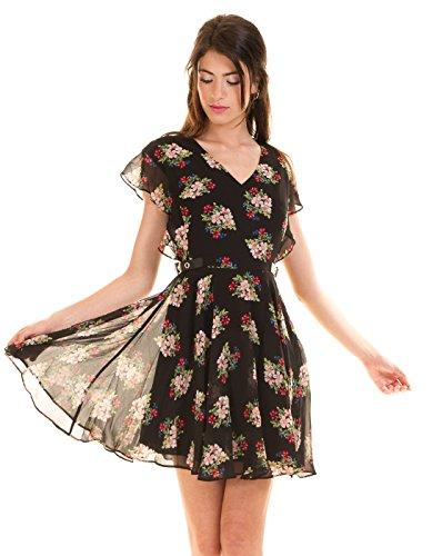 Guess Damen W73K67W8SL0 Kleid, Mehrfarbig (Romantic Bouquet Com), X-Small
