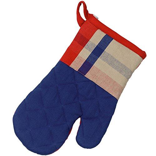 kela Gant Frida avec Motif carré 28x18cm en Coton, Bleu/Rouge, 28x18x2 cm