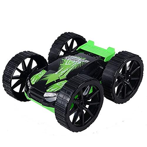 QHYZRV Coche de acrobacias de cuatro vías Cubo basculante Coche resistente a choques Coche de control remoto inalámbrico de alta velocidad Coche de 180 grados Coche de juguete Hobby Coche deportivo re