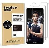 ivoler [2 Unidades] Protector de Pantalla para Huawei Honor 7X, Cristal Vidrio Templado Premium