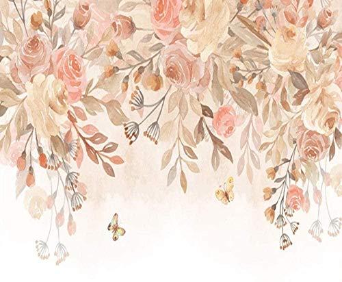 VGFGI Vinilo autoadhesivo moderno papel pintado de hoja floral acuarela pintado a mano moderno decoración del hogar