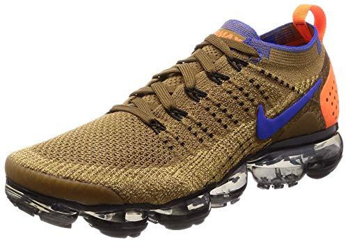 Nike Herren Air Vapormax Flyknit 2 Fitnessschuhe, Mehrfarbig (Golden Beige/Racer Blue/Club Gold 203), 47 EU