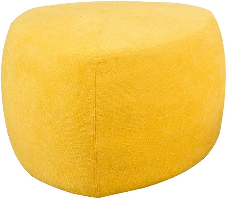 DIAOSI Xiaodengzi Lazy sofa single floor sofa stool modern minimalist home small stool creative fabric block shoes shoes bench (color   Bright yellow, Size   45  70cm)