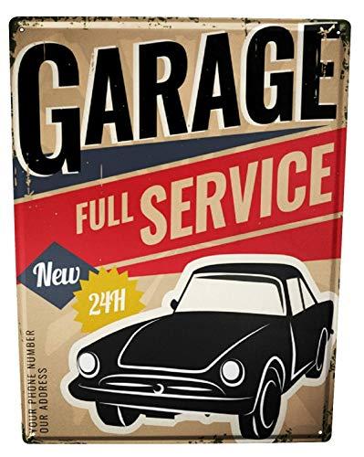 Li6454e Tin Sign Garage Workshop Poster for Home Signs Metal Art Decor Wall Plate 8x12