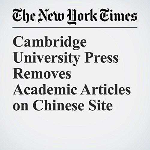 Cambridge University Press Removes Academic Articles on Chinese Site copertina