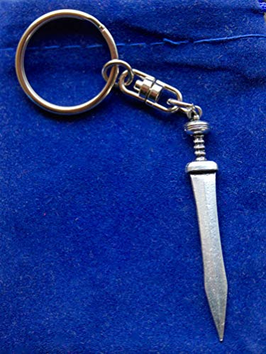 SWORLDesigns Gladius Römisches Gladiator Schwert Hartzinn Schlüsselanhänger mit Geschenkbeutel
