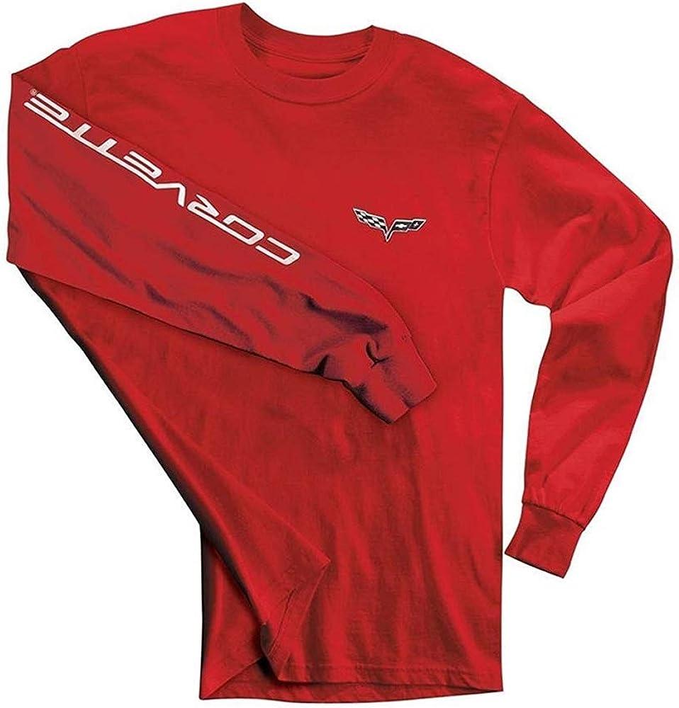 C6 Corvette Men's Long Sleeve Luxury goods w on Script Finally popular brand Shirt