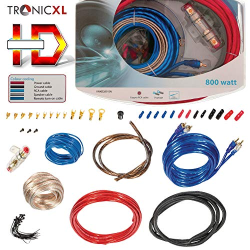 TronicXL 800W Highend CAR HiFi Kabel Set Verstärker Endstufe Anschlusskabel PKW KFZ Auto Montage Cinchkabel RCA