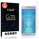 J&D Compatible para 2 Paquetes Galaxy J4 2018 Protector de Pantalla, [Vidrio Templado] [NO Cobertura Completa] Cristal Templado Protector de Pantalla para Samsung Galaxy J4 (Release in 2018)