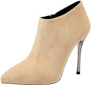 TAOFFEN Women Fashion Dress Boots Evening Club Shoes Zipper