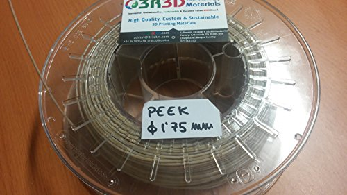 Peek 1,75 mm 3dprinting Filament, 750gr, 10
