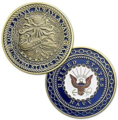 BirchRiver United States Navy Challenge Coin - Once a Navy Always a Navy - Commemorative Collector