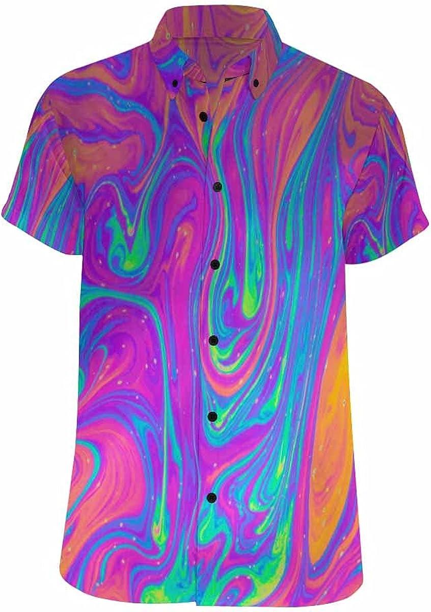 InterestPrint Multicolored Bubble Soap Sleeve Max 87% OFF Short Super-cheap Men's Summer