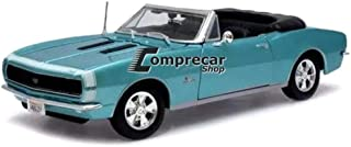"""1967 Chevrolet Camaro SS 396 باللون الفيروزي قابل للتحويل 118 من Maisto [ä ¦è1⁄4 ␞...""""]"""