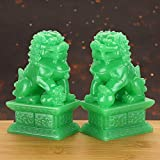 MDLUU Pair of Fu Foo Dogs, Guardian Lions, Feng Shui Lion Statues for Cash Register, Office Desk, House Warming, Store Opening Gift
