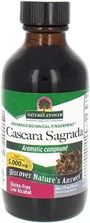Nature's Answer Cascara Sagrada Bark liquid with Organic Alcohol, 3-Fluid Ounces | Promotes Regularity, Helps with Constip...