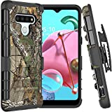 CoverON Holster Cover for LG K51 Case/LG Reflect Case, Rugged Belt Clip Kickstand Dual Layer Outdoor Phone Armor - Camo