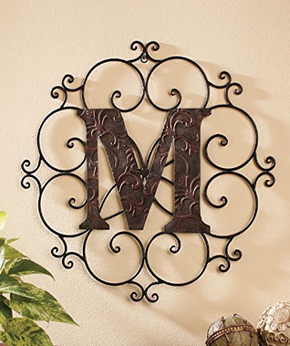 "Personalized Letter ""M"" Metal Wall Art - Great Gift!"