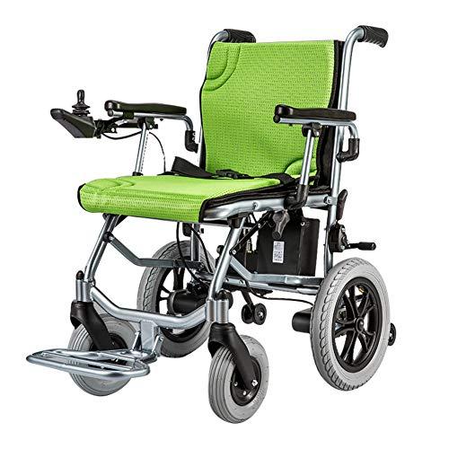 ZZUU Elektro-Rollstuhl-leicht Rollstuhl faltbar Lithiumbatterie/Leichter elektrischer Rollstuhl-tragbarer medizinischer/Eine Sekunde Falten,Green