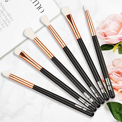 6 / 10pcs pinceaux de maquillage mis en poudre pro fard à paupières eye-liner eye brow blend anti-cernes ombrage maquillage brosse cosmétique kit d'outils HJ-6pcs