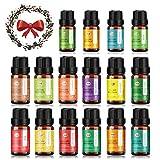ANEAR Huiles Essentielles 12x10ml + 4x5ml, coffret de 16 huiles essentielles 100% Pure, pour diffuseur, Aromathérapie, parfum d'ambiance et bricolage