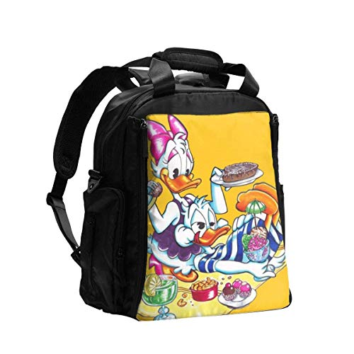 IUBBKI Diaper Bag Backpack Donald and Daisy Duck Holiday Multifunction Travel Back Pack Shoulder Bag Maternity Nappy Baby Bag with Changing Pad