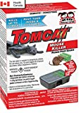 Tomcat MOUSE-RODENT KILLER-Child and Dog Resistant-Disposable 4 Pack Bait Stations, Certified by Health