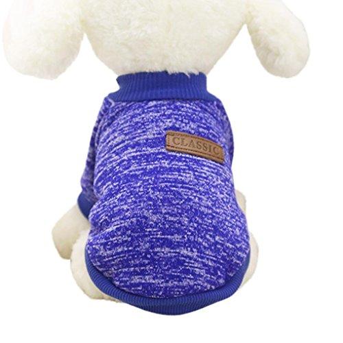 Mascotas Ropa para mascotasSuéter de Perro Mascota 2018 Abrigo Punto Ropa Chaleco Chaqueta para Mascotas (Azul Oscuro, 2XL)