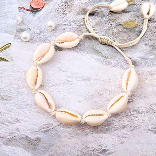 Yean Boho Shell Fußkettchen Conch Fußkettchen Armband Mode Fuß Kette Schmuck für Frauen und Mädchen