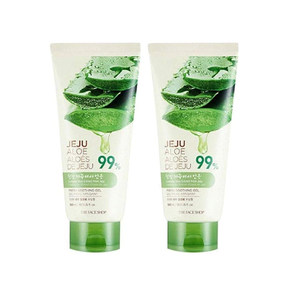 悪い台風戦術ザ?フェイスショップ済州アロエ新鮮なスーディングジェル300ml x 2本セット韓国コスメ、The Face Shop Jeju Aloe Fresh Soothing Gel 300ml x 2ea Set Korean Cosmetics [並行輸入品]