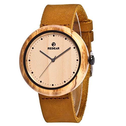 Orologio da uomo Reloj de Madera, Industrial Hecho a Mano de Alta Gama, Reloj Deportivo de Cuarzo for Negocios, Saludable, Puede traer Buena Suerte, Romance, compañero, Reloj de Pareja