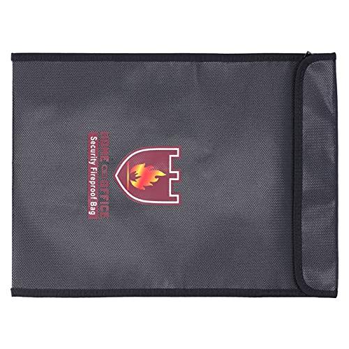 Bolsa de Dinero Ignífuga, Bolsa Ignífuga Multifunción Negra Impermeable para Pasaportes para Fotos para Tabletas para Documentos