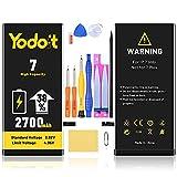 Yodoit Batería para iPhone 7 2700mAh bateria Recambio, Aumento del 38% de la Capacidad de la batería Reemplazo de Alta Capacidad Batería con Kits de Herramientas de reparación