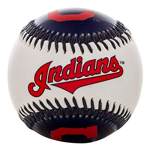 Franklin Sports MLB Cleveland Indians Team Baseball - MLB Team Logo Soft Baseballs - Toy Baseball for Kids - Great Decoration for Desks and Office