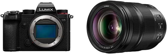Panasonic LUMIX S5 Full Frame Mirrorless Camera (DC-S5BODY) and LUMIX S 24-105mm F4 Lens (S-R24105)