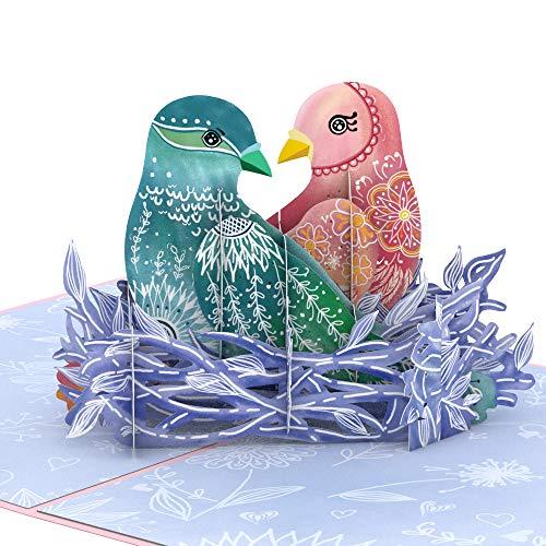 Lovepop Love Birds Pop Up Card - 3D Card, Valentines Day Cards, Valentine's Day Pop Up Card, Anniversary Pop Up Card, 3D Valentine's Day Card, Romance Card, Card for Wife