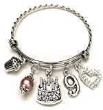 9th BIRTHDAY Bracelet, 9th Birthday Charm Bracelet, 9 Year Old Daughter Birthday Gift Idea, Ninth...