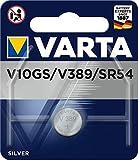 VARTA V10GS - V389 - SR54, 4174101401, Batteria a Bottone, Ossido D'Argento, 1,55 Volts, Diametro 11,6mm, Altezza 3,05mm, confezione 1 pila