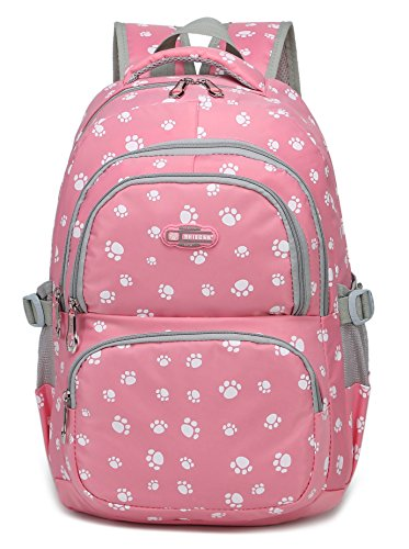 Girls School Bags for Kids Elementary School Backpacks Bookbags for Children (Pink 2)
