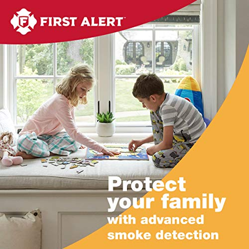 FIRST ALERT SA303CN3 Battery Powered Smoke Alarm with Silence Button, 1 pack