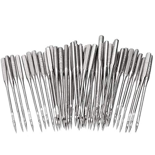 50Pcs Sewing Machine Needles, Universal Heavy Duty Sewing Machine Needles, Sizes HAX1 65/9, 75/11, 90/14, 100/16, 110/18