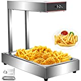 VEVOR 110V French Fry Food Warmer 22'x13', 1000W French Fry Heat Lamp,Stainless Steel Heat Lamp Warmer 86-185, Food Warmer Diaplay for French Fry, Heat Lamp Commercial for Fry Chicken