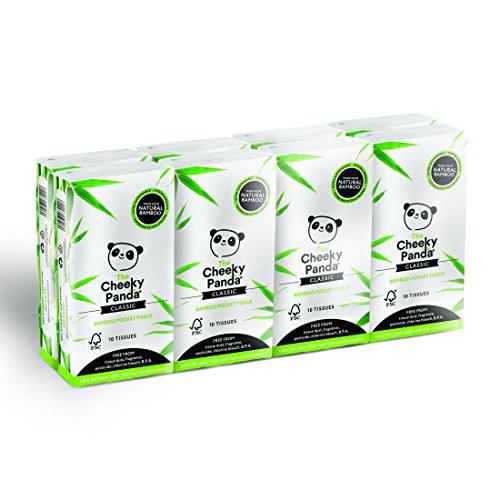 The Cheeky Panda Taschentücher, 100% Bambus, 8 Stück, 5060561630035