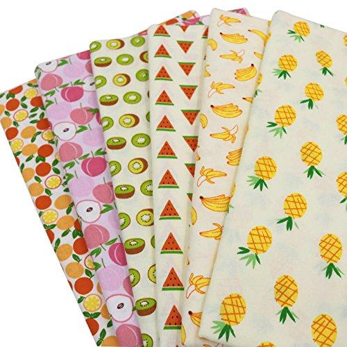 6 stücke 40 cm * 50 cm Früchte gedruckt baumwollgewebe für DIY nähen handwerk, patchwork stoffe, baumwollstoff meter, stoffe patchwork stoff paket