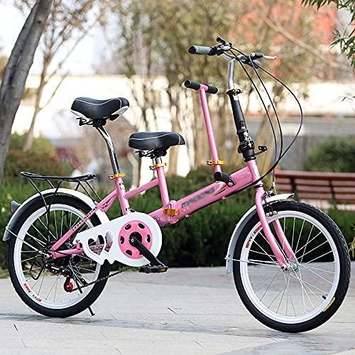 N / E Bicicletas Plegables de 20 Pulgadas Padre-niño Bicicletas Plegables, Pequeño Estudiante Adulto Portátil Bicicleta Masculina, Ejercicio Ligero de Viaje de la Ciudad