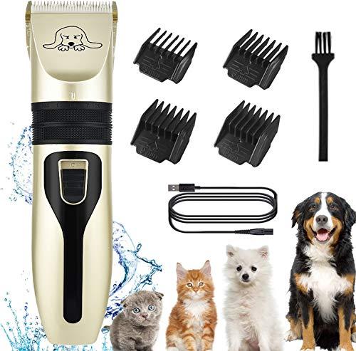 MEKUULA Tierrasierer Hunde Katze Tierhaarschneidemaschine Schermaschine Fachmann Pflege Hundeschermaschine,Wiederaufladbare Elektrische Haarschneider Hundetrimmer für Hund Katze Haustier