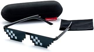 adc6a86fcb BAWANGLONG Gafas de Sol Hombre Mujer Divertidos Sombras Gafas Pixel 8 bits  con Estuche