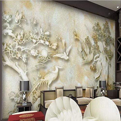 Achtergrondafbeelding 3D wallpaper woonkamer aangepaste grootformaat muurschilderingen fee Phoenix marmer jade snijden TV achtergrond behang papel de Parede Para Quarto
